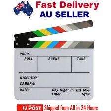 Premium Colorful Clapper Board Clapboard Slate Film Movie Clapperboard New AU