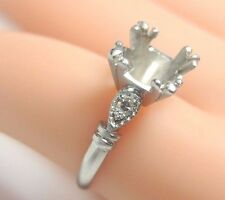Antique Vintage Art Deco Ring Setting Mounting Platinum Hold 7 MM - 7.5 MM Fine