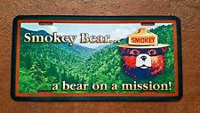 "U.S. FOREST SERVICE SMOKEY BEAR METAL LICENSE PLATE  6""X12"" ONLY YOU CAN PREVENT"