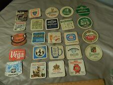 Euro BEER~BIER [Coasters_Mats] LOT of 24 [Michelsbrau_Henninger_Diekirch_Amstel]