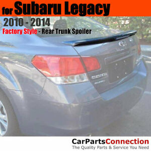 Primer ABS Rear Trunk Spoiler with 3rd Brake Lamp For 2010-2014 Subaru Legacy