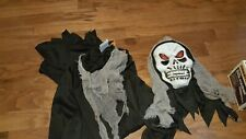 Boys Halloween Dress up Reaper toga robe monster scary mask Size L Large 10-12