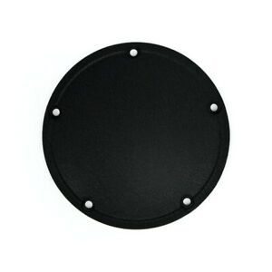 Harley Davidson Twin Cam 5 Hole Black Wrinkle Stepped Derby Clutch Cover 1999-06