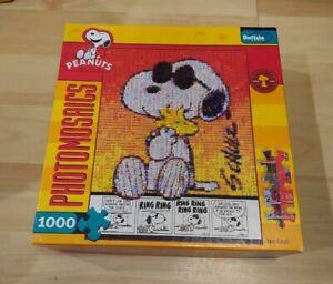 "Peanuts Snoopy Joe Cool Photomosaics  1000 pieces jigsaw puzle 27 X 20"" poster"