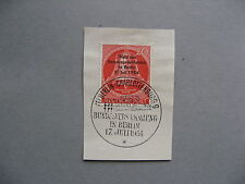 GERMANY BERLIN, fragment with overprinted stamp bell 1954, CTO FDC