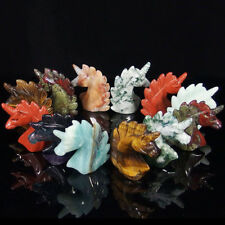 various natural gemstones crystal carved unicorn carving figurine collectible