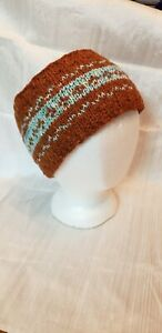 Hand made Knit rustic Wool Head Warmer