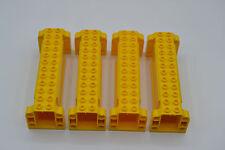 LEGO 4 x System Kranausleger Arm gelb 52041 Element Halterung aus Set 7633 7249