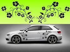 2x  flowers floral car bike window (f2) STICKER DECAL VAN CAR COLOUR DUB JDM