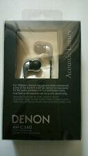 "Denon AH-C360 In-ear Headphones ""Acoustic Luxury"" (Silver)"