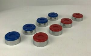 "Set of 8 Shuffleboard Pucks Red Blue 2 1/4"" 13oz"