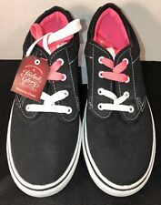 Faded Glory Women's Black Two Lace Canvas Sneakers/Shoes Size 9