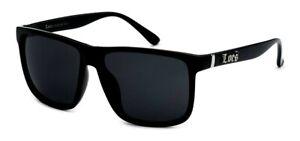 Locs Oversize Gangster Glasses Men Dark Lens Flat Top Large Black OG Sunglasses