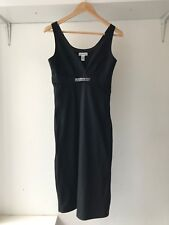 Calvin Klein Womens Empire Waist Black Sleeveless Sheath Dress, Size XS