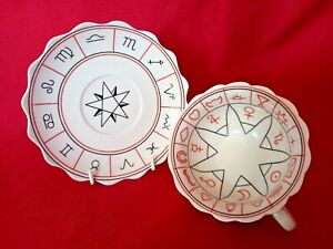 VINTAGE THE CUP OF DESTINY FORTUNE TELLING TEA CUP & SAUCER