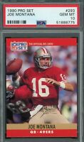 Joe Montana 1990 Pro Set Football Card #293 Graded PSA 10 GEM MINT
