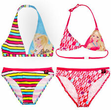 Girls Official Barbie Bikini Kids Beach Swimwear Swimming Costume Age 2-8 Years
