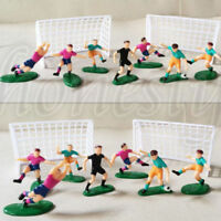 9Pcs/Set Soccer Football Cake Topper Player Birthday Decoration Tool Model Mould