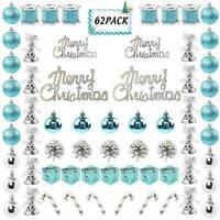 62 Adornos Decoracion Para Arbol De Navidad Azul Decoraciones Navideñas El Hogar