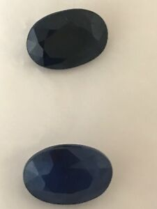 Stunning Pair Of Twilight Blue Certified Natural Sapphires 16.6 ct In Total