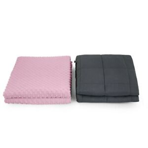 """48"""" x 72"""" and 60"""" x 80"""" Premium Weighted Sensory Blankets with Pink Mink Cover"""
