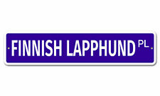 "5987 Ss Finnish Lapphund 4"" x 18"" Novelty Street Sign Aluminum"