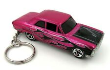 Ford Thunderbolt Pink and Black Key Chain Ring Fob Keychain