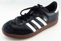 adidas Samba Fashion Sneakers Black Synthetic Men Shoes Size 5.5 Medium (D, M)