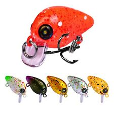 6pcs Fishing Small Crankbait Minnow Fish Bass Lure Hook Baits 3cm/2.5g