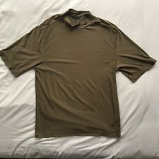 G02 Nike Golf Size M Mens Polyester Brown DriFit UV Protect S/S Button Up Shirt