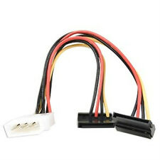 ATX Molex Power to Dual 90° Serial ATA (SATA) Power Adapter 6 inch long
