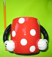 4x6 Large Minnie Mouse Pants w/arms Red Black Disney Ceramic Coffee Mug Cup