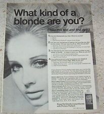 1968 vintage ad - Clairol Picture Perfect hair color blonde girl Print AD Advert