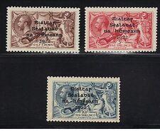 Ireland 1922 Short 3rd Line Variety 12-14 Hib 12d,13a,14d Mint CV 610 Euro $715