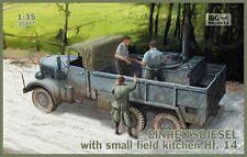 HENSCHEL / MAN einheits-diesel pritschenwagen con HF.14 campo CUCINA 1/35 IBG