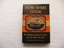 Original Victor Phonograph Record Catalog Catalogue - 1940-41