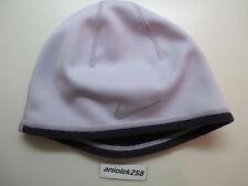 Nike women's therma-fit running hat / cap / beanie reversible light/dark purple