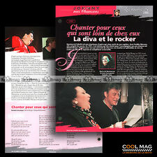 #jh033.02 ★ 1997 MONTSERRAT CABALLE & JOHNNY : LEZ DUO ★ Fiche JOHNNY HALLYDAY