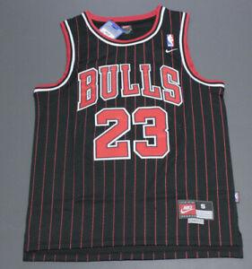 Michael Jordan #23 - Chicago Bulls Jersey - Black, Pinstripe