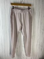 Alphalete Women's Size Medium Light Pink Premium Joggers Soft Pink Stretchy EUC