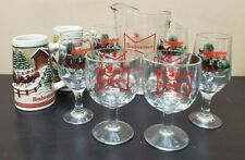 Budweiser Clydesdales 2 Beer Mugs, 4 Goblets, 2 Snifters, Pitcher Lot 9