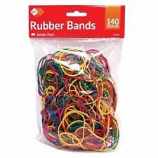 Coloured Elastic Rubber Bands For Home School Office 140gm Jumbo Pack 250pcs