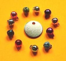 Médaille d'identite gravée chien ou chat 20mm Nickel + GRELOT inclus