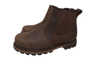 V12 Rawhide, Oiled Leather Safety Dealer Boot, Brown