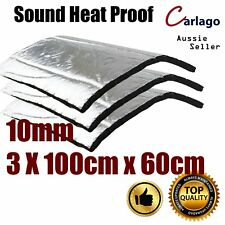3pcs 100cm x 60cm Thermal Sound Deadener Car Floor Mat Foam 10mm Insulation