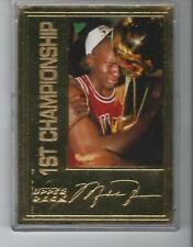 Upper Deck Michael Jordan 22K gold card 6872/10000