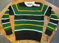 Le Tigre Sweater Men's Striped 80's 100% authentic knit New with Tags ALL SIZES