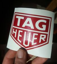 Tag Heuer Candy red metallic sticker decal porsche bmw classic retro vintage