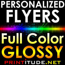 "250 FLYERS 8.5""X5.5"" FULL COLOR 2 SIDED 100LB GLOSSY AQ COATED 8.5X5.5 HALF PAGE"