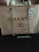 Chanel Pink Canvas Large Deauville Shopping Tote 30 cm NEW !!!SOLD OUT!!!!  JC